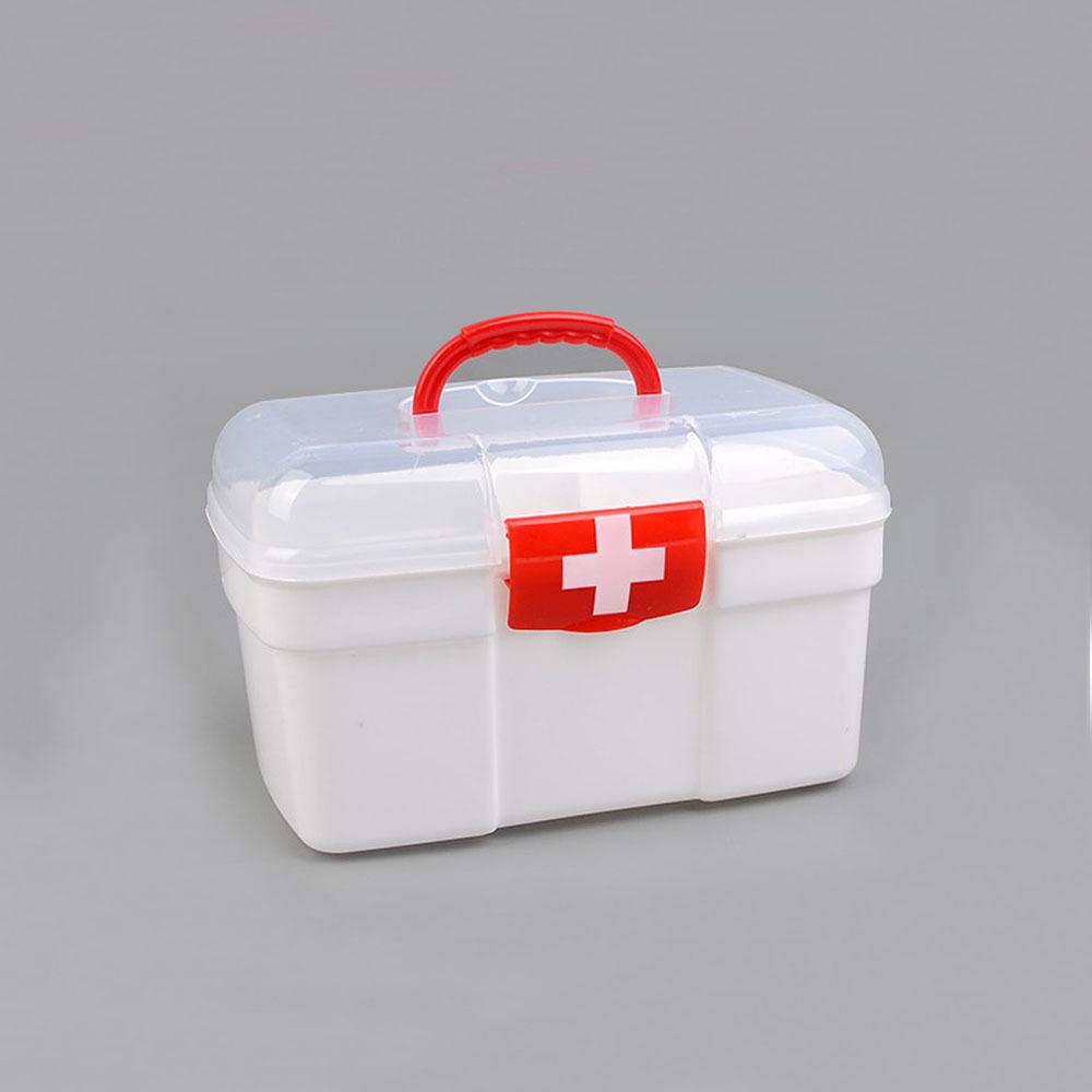 휴대용 2단 다이소 구급상자 가정용 구급약상자 (POP 5308467577)