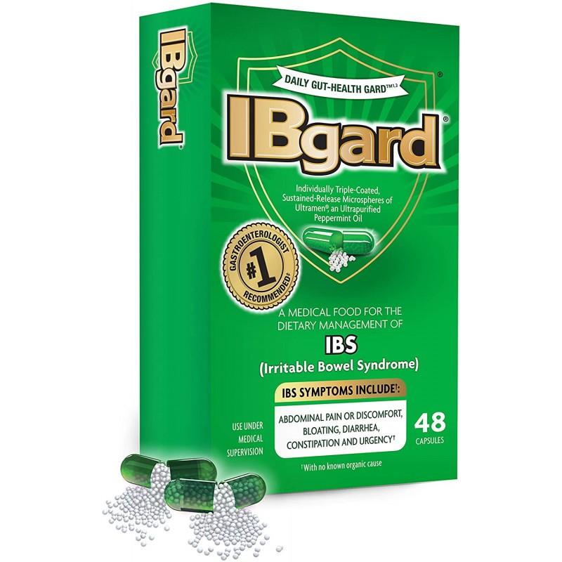 과민성 대장 증후군 (IBS) 증상의식이 관리를위한 IBgard® 복통 팽만감 설사 변비 † * 48 캡슐, 1