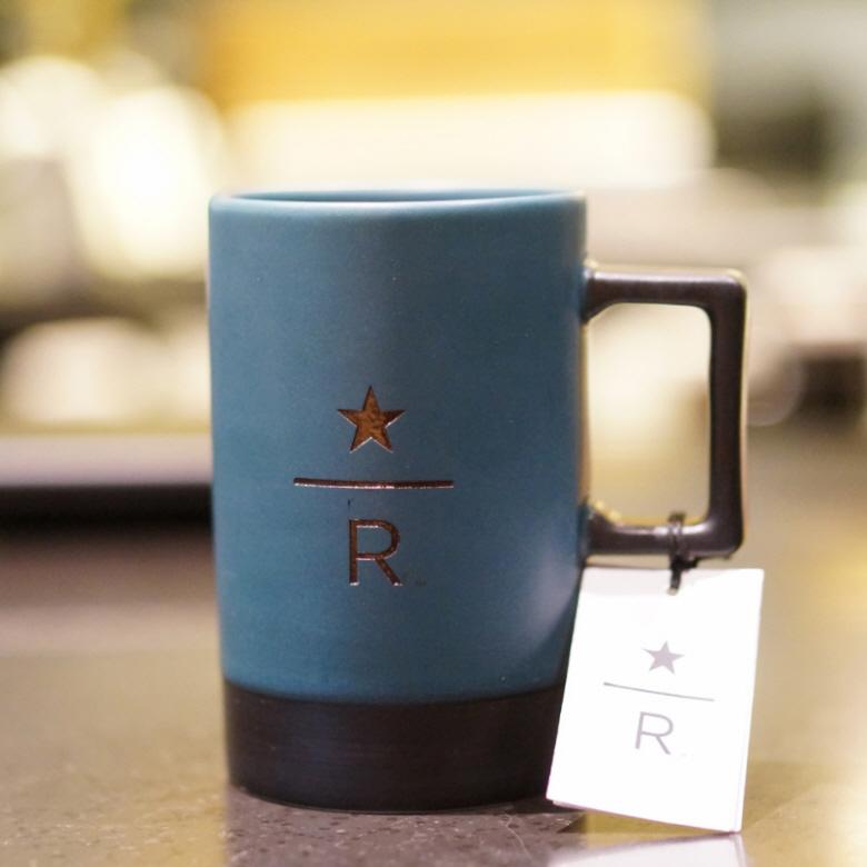 starbucks 스타벅스 컵 세라믹 빈티지 머그컵 355ml, 블루