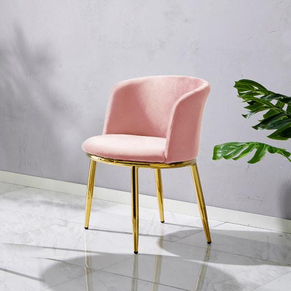 가구로드 로잔체어 골드 화장대 카페 예쁜 식탁의자, 로잔체어-핑크
