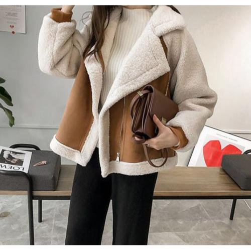 여성 겨울 뽀글이 양털 무스탕 램스울 자켓