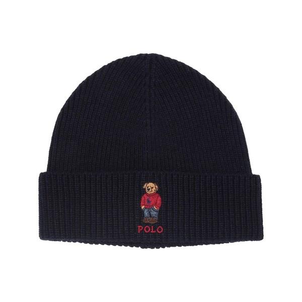 Polo Ralph Lauren Men`s Wool Blend Knit Hat (Hunter Navy One Size) Polo Ralph L