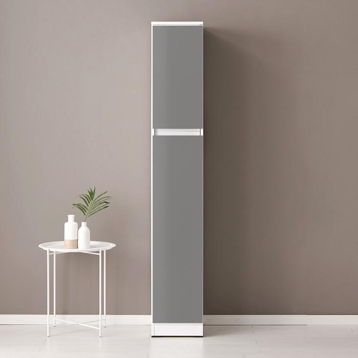 퍼니하우스 헤븐 1800 다용도 주방 냉장고 틈새장 키큰수납장, 다크그레이-8-99636048