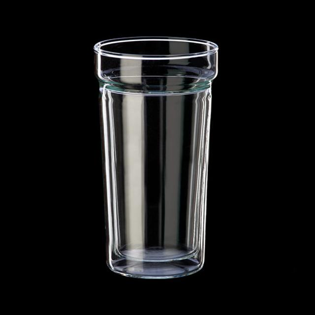 시맥스 이중유리컵 내열유리 유리잔 맥주잔 400ml 2개, 단일색상