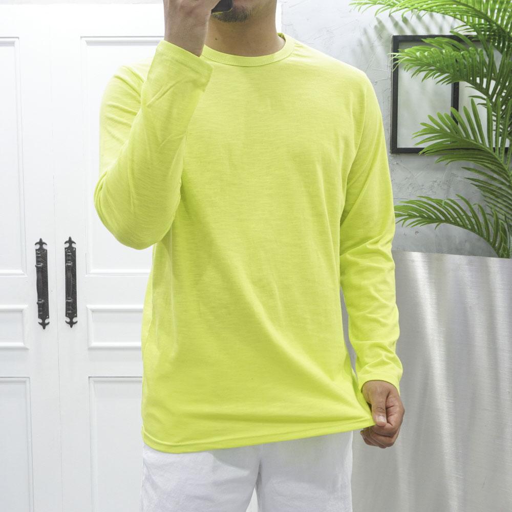 고천 슬라브 박스 오버핏 여름 긴팔 티셔츠