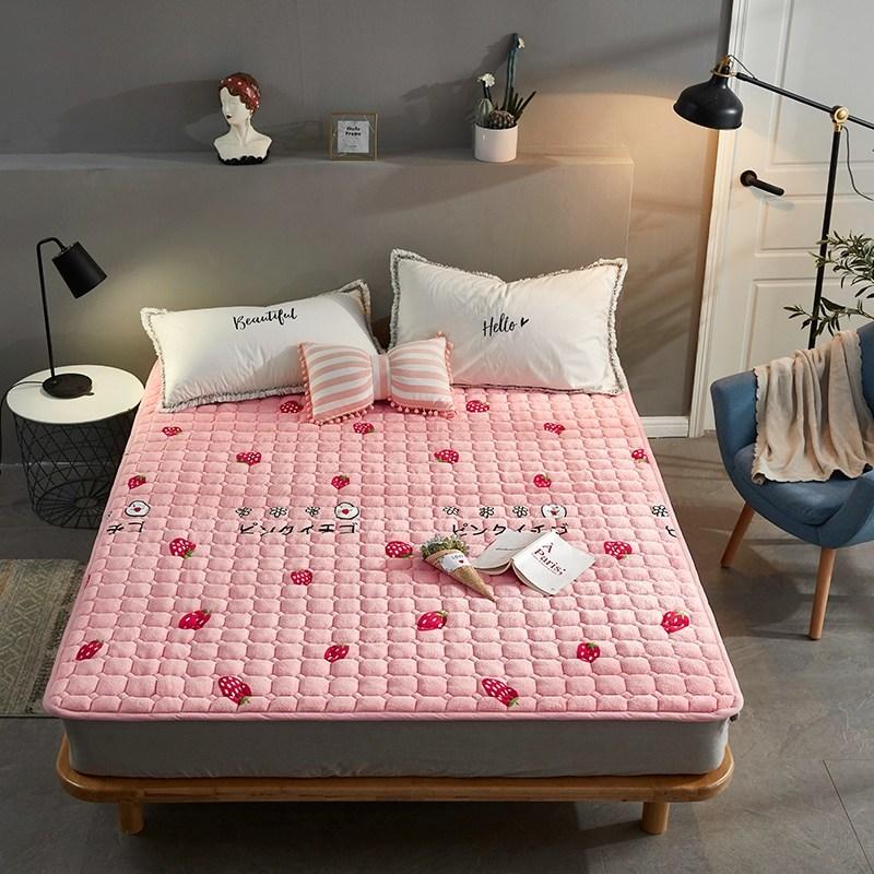 토퍼 템퍼 매트리스 침구 기타 겨울 기모 쿠션 학생 기숙사 싱글 담요 침대, AE_1.2 X 2m