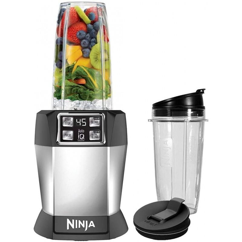 Nutri Ninja BL480D Auto-iQ 블렌더 1000W 블랙 (갱신), 단일옵션 (POP 2199960832)