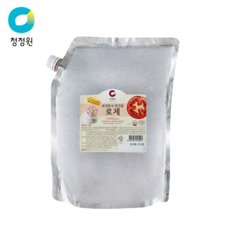 청정원 로제 스파게티소스 4kg, 1
