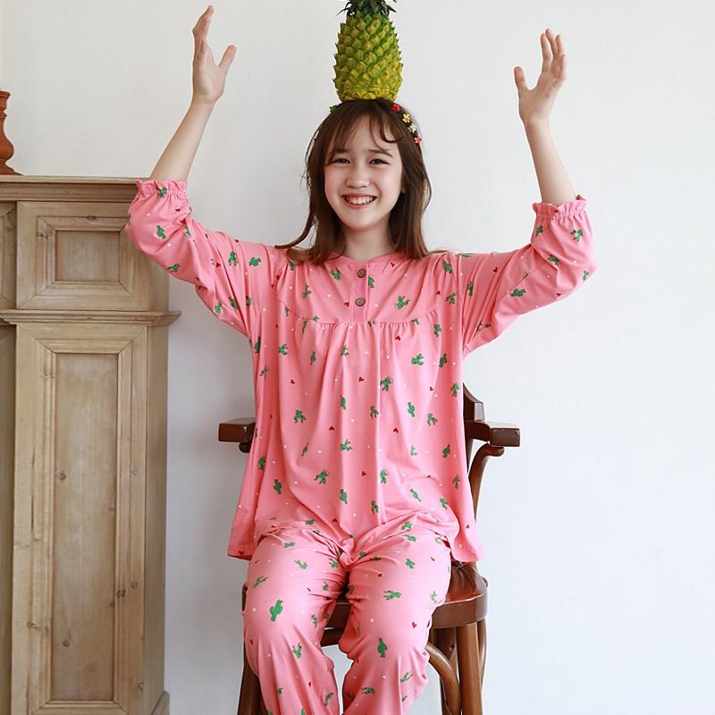 모스트맘 밀크기모 주니어세트 하트선인장 잠옷