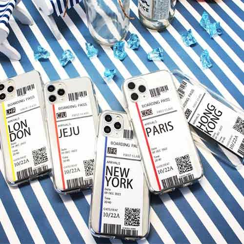 그레비 항공권 UV 젤리 케이스 아이폰 11 XS 8 5 6