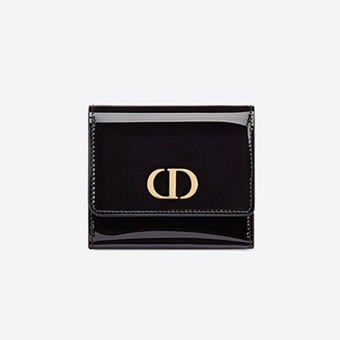 [디올] 30 몽테뉴 로터스 반지갑 (유광블랙) S2057OWPJ_M900