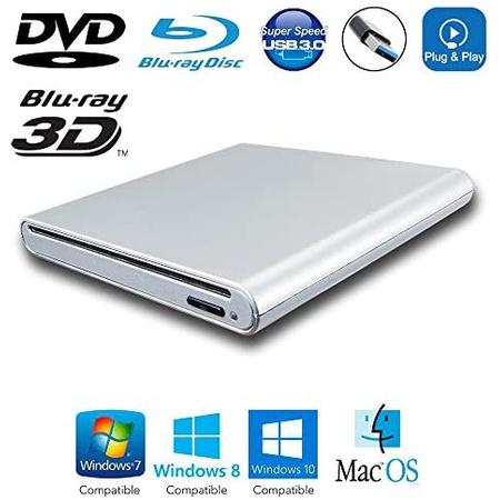 이동용 외장 USB 3.0 3D 블루레이 MovieS DiSc 플레이어 for 델 Dell XPS XP S 13 15 inSpiron 15 5000 95, 상세 설명 참조0