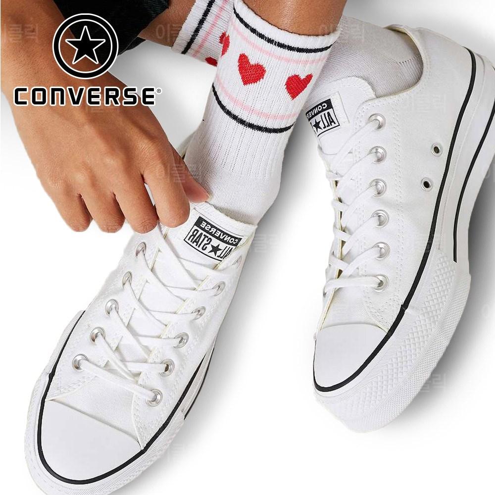 컨버스 척테일러 올스타 리프트 플랫폼 화이트 여성 신발 키높이 스니커즈 운동화 단화