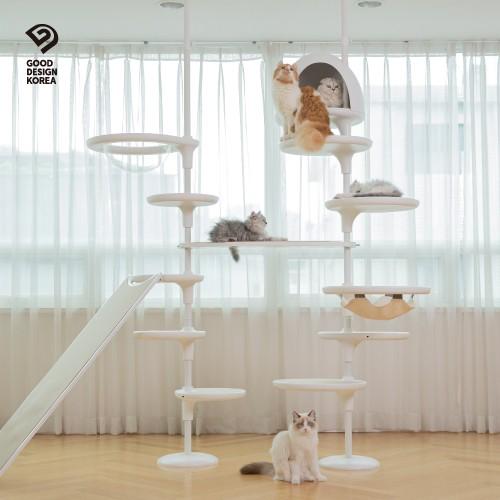 가또페로 화이트폴 국산 고양이캣폴 캣타워, D타입_폴대만 주문(옵션 별도 추가 구매), 아이보리