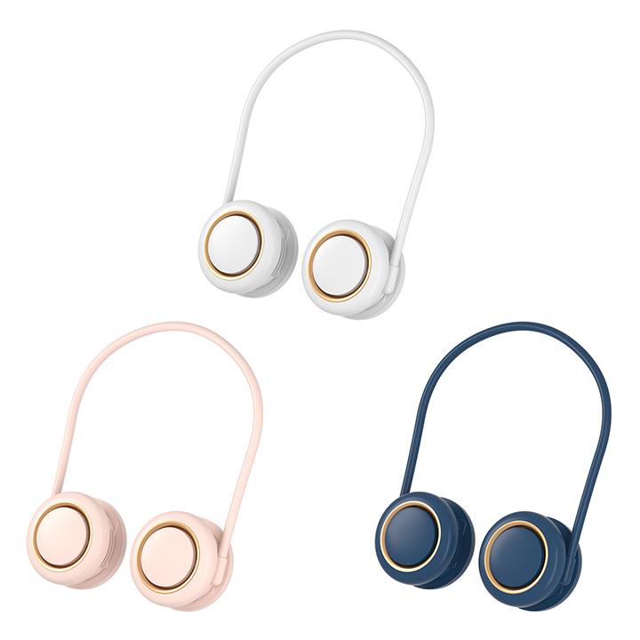 돌돌말아 360도회전 휴대용 목걸이 선풍기, 블루, 360-1 (POP 5539544572)