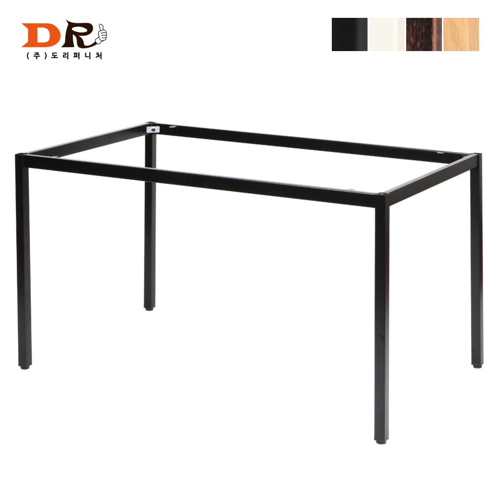 도리퍼니처 30각 1200x750 철제프레임 / DIY 철제다리 테이블, 블랙