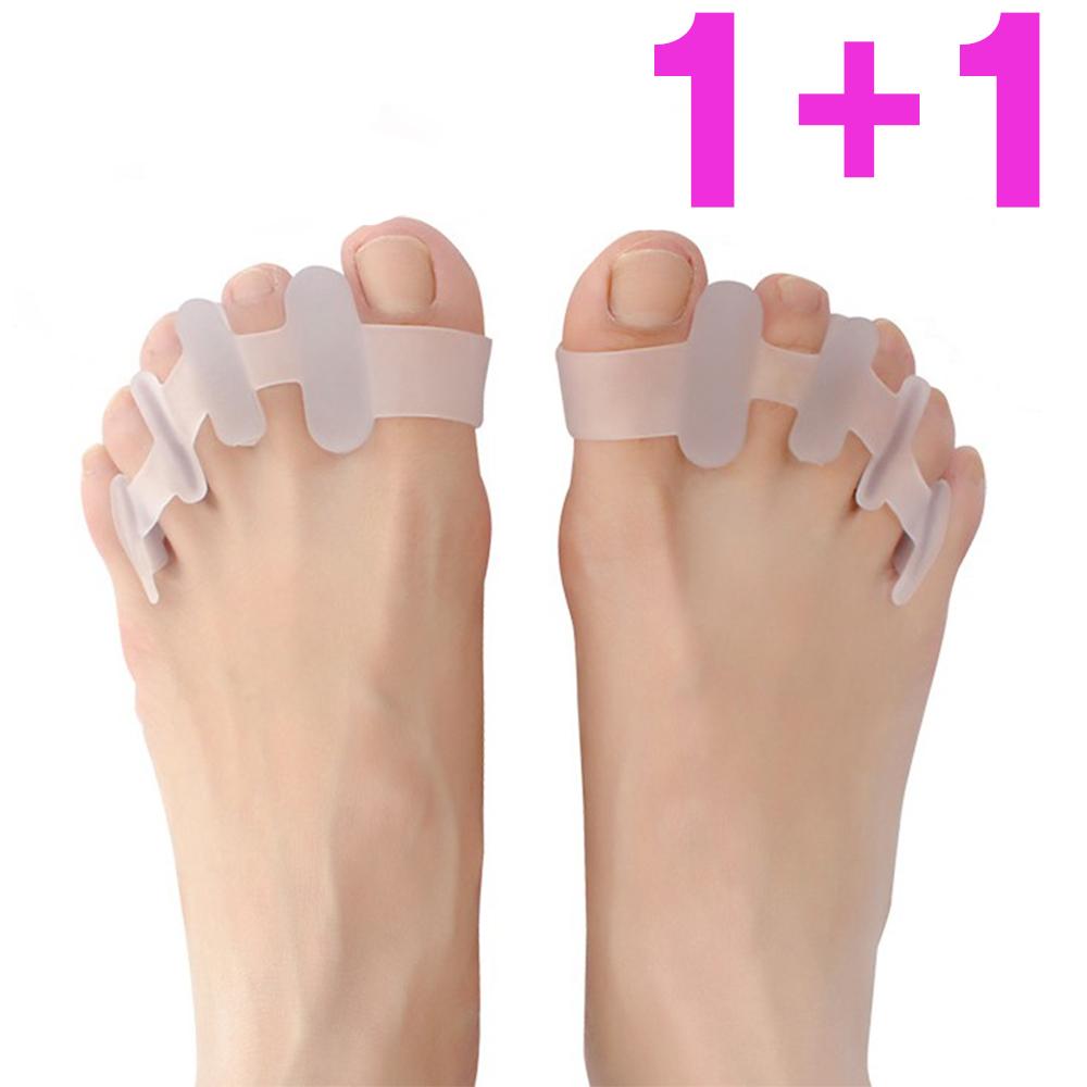 1+1 바른 자세 실리콘 발가락 교정기, 2세트