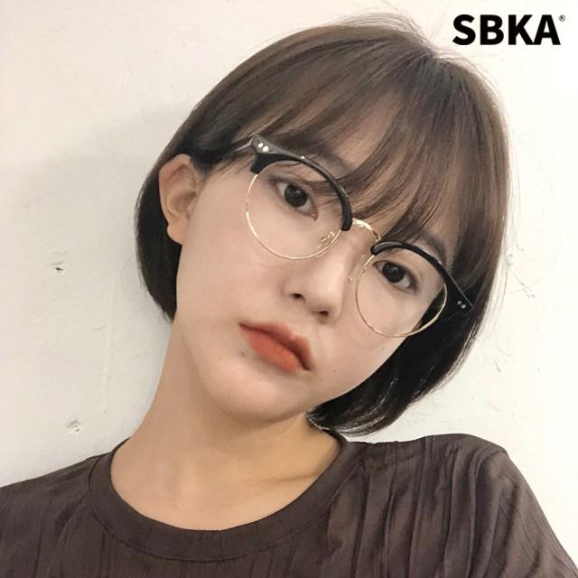 에스비카 SBKA Mason 하금테 안경 남자 여자 반뿔테