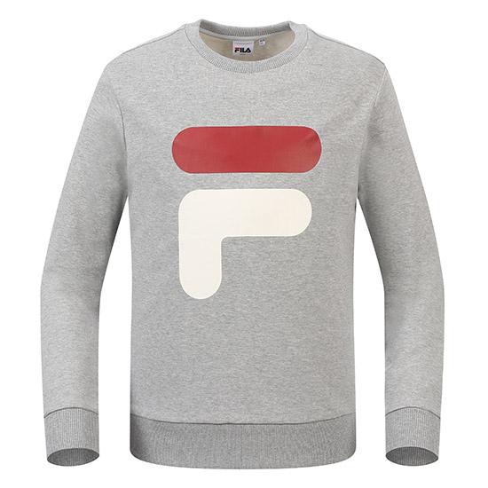 휠라 남녀공용 빅 F 로고 맨투맨 티셔츠 FS2POA1006X_LML