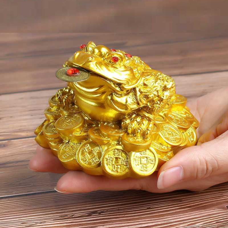 칠나무 장식품 두꺼비 풍수 대박 돈더미 삼족두꺼비 복두꺼비 수지 WDD0813-03, 사진색K