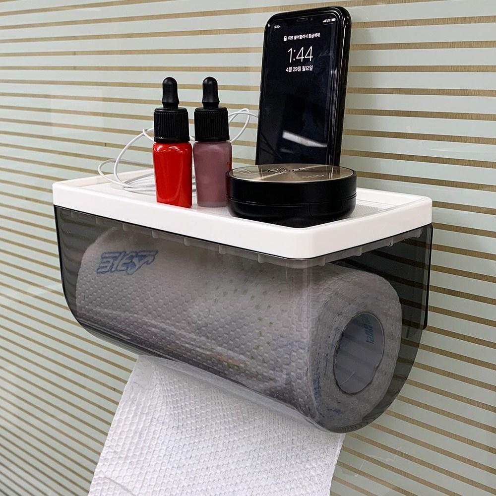 세이크린 벽부착형 다용도 롤 타올 투명 케이스 CNK5168