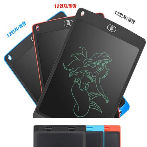 다빈 12인치 전자노트 메모패드 전자칠판 어린이선물, 검정