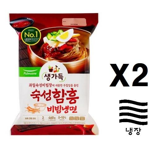 [풀무원] 함흥비빔냉면460g(2인분)X2, 2개, 460g