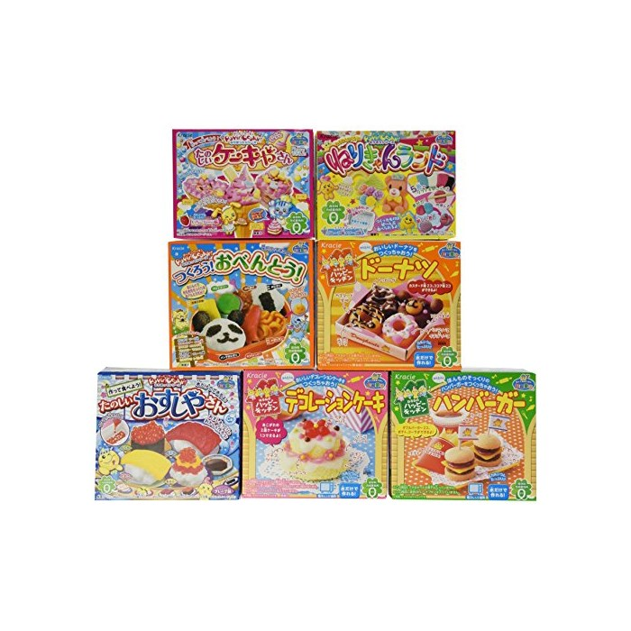 Hamburger Popin Cookin Kit DIY Candy By Kracie X 7 Different Styles, One Color, One Size