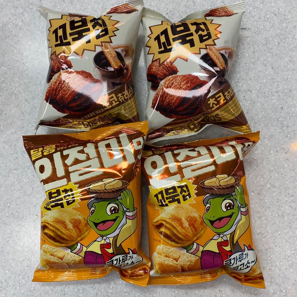 [담팔담사] 인기상품 꼬북칩 초코츄러스 65g 2봉지 + 꼬북칩 인절미맛 65g 2봉지 (총 4봉지 상품)
