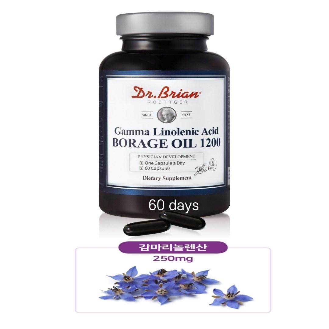 프리미엄 감마 리놀렌산 GLA 달맞이꽃 종자유 여성 갱년기 골다공증 생리통 여드름 피부 에 좋은 비타민E 석류 함유 영양제 추천, 1개, 60캡슐