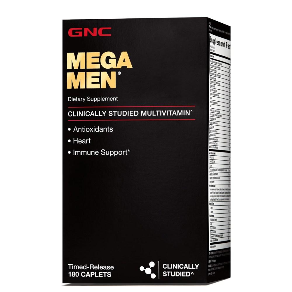 GNC 메가맨 180정 Mega Men 180caplets, 0.63lb, 1병