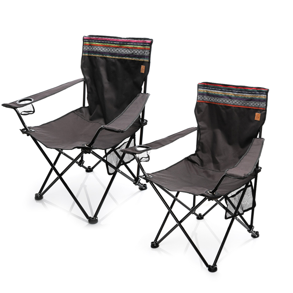 마추픽추 와이드 팔걸이 캠핑의자 특대 1+1, 감성패턴 1+1(2개1세트)