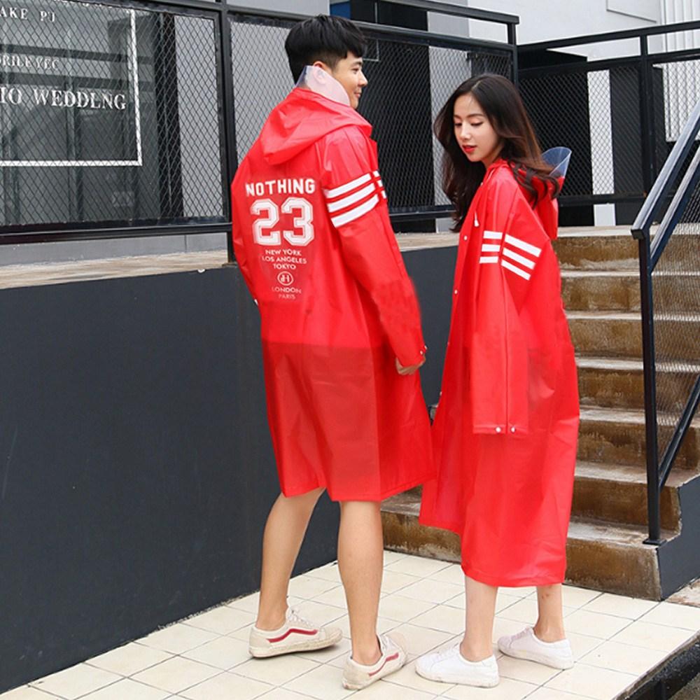 라무어 커플 뽀송 우비 패션 레인코트 EVA 남녀공용 비옷