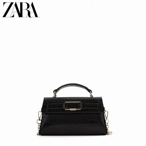 해외 Zara 새로운 여성 가방 블랙 슈퍼 파이어 다목적 벨트 핸들 단일 어깨 -11015
