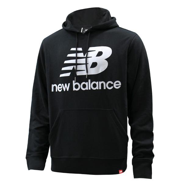 뉴발란스 에센셜 스택드 로고 후드티 블랙 AMT03558-BK 스포츠 패션 후드