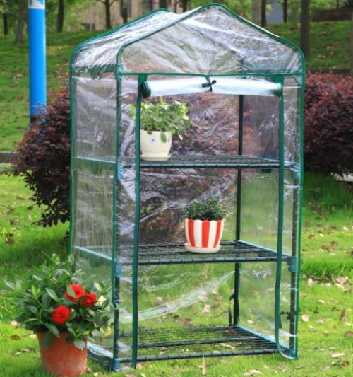 미니온실 미니비닐하우스 가정용비닐하우스 가정용온실, 3 층 투명개