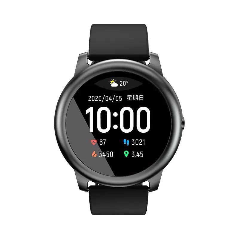 2020 샤오미 Haylou Solar 헬로우 솔라 스마트워치 LS05 중국내수용 글로벌버전, 중국 버전 블랙, 블랙 Haylou Solar Smart Watch
