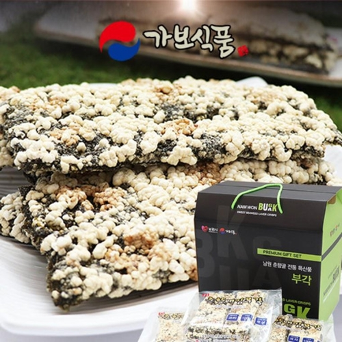 가보식품 남원 춘향애 찹쌀 김부각 가벼운 술안주 100x4개입, 흰색, 100g, 4개입