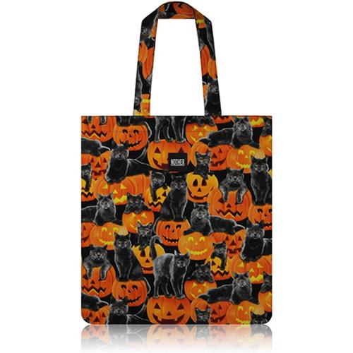 [바보사랑]nother Black Cats and Pumpkins Flat Tote Bag