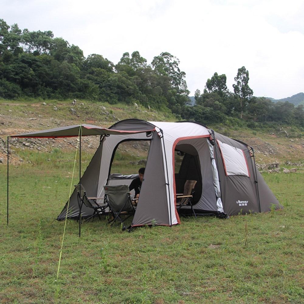 차박 텐트 차크닉 카크닉 차량용 거실형 분리형 방충망 감성캠핑, 그레이
