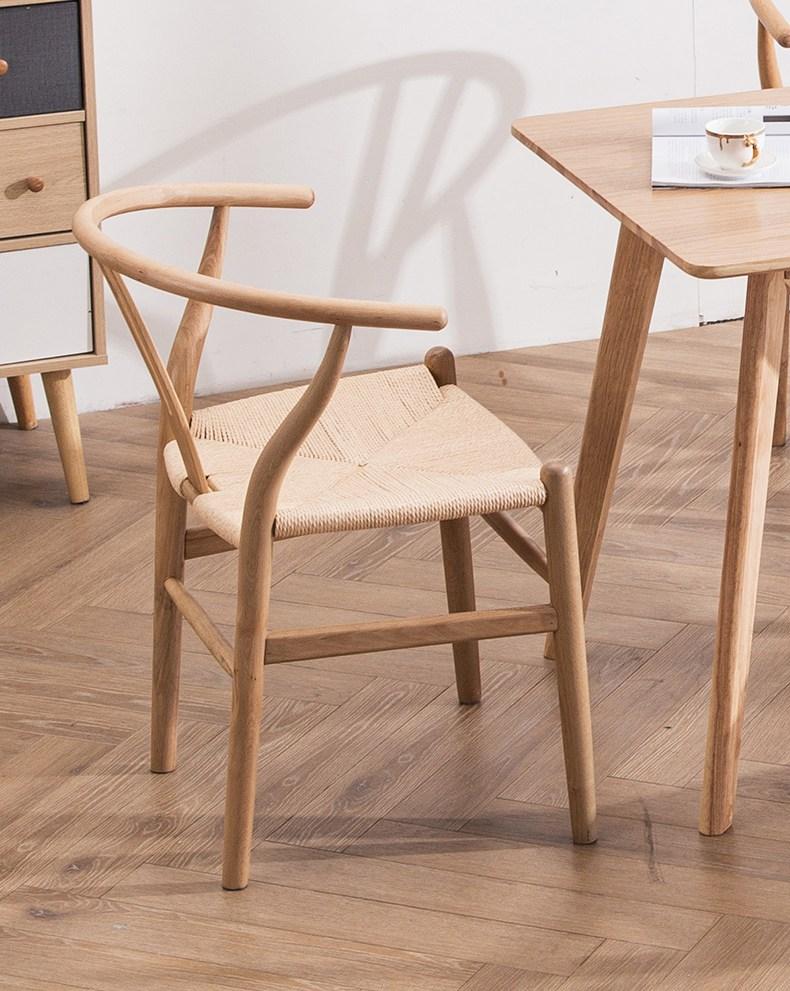 생각소품 와이체어 곡목 라탄의자 카페 사무실 식탁, 브라운