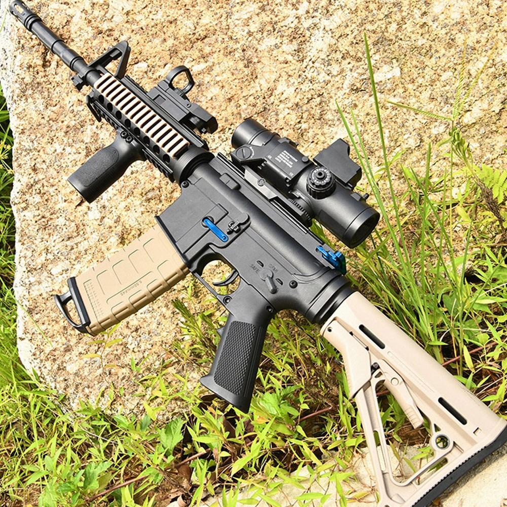 배그 M4A1 게임총 사격놀이 장난감 전동건 성인용 젤리탄 수정탄총, 8세대 기본세트