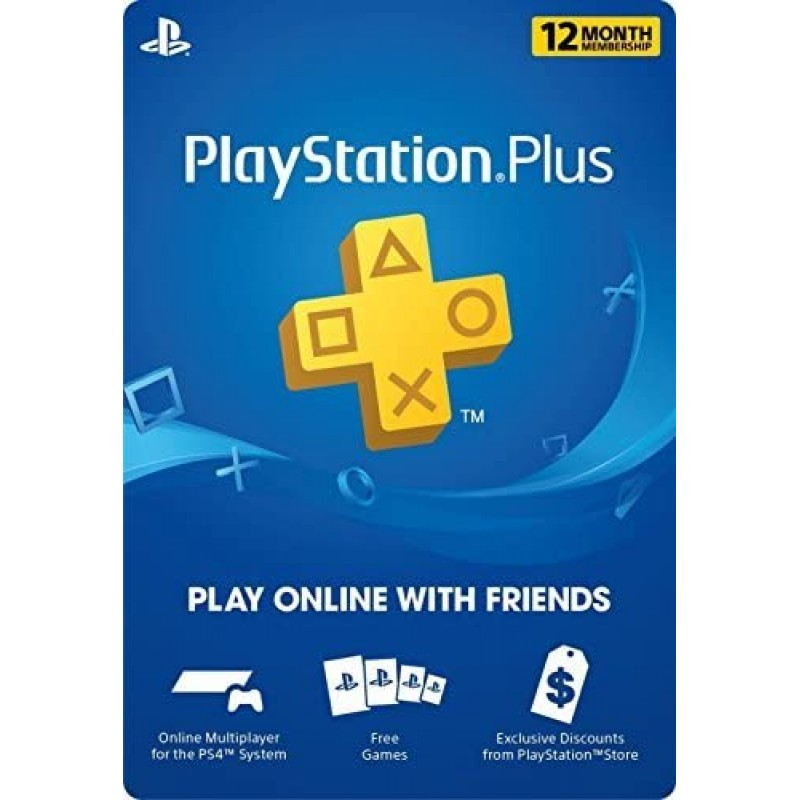 12 개월 Playstation Plus Psn 멤버십 카드 (신규) 1 년, 단일옵션