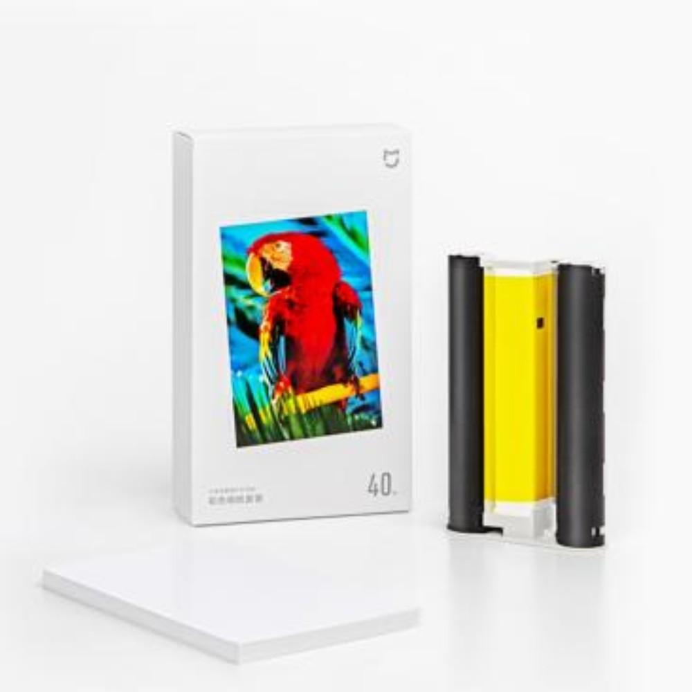 사진인화기 증명사진 프린트 출력 샤오미포토프린터 즉석인화, 프린터인화지80매