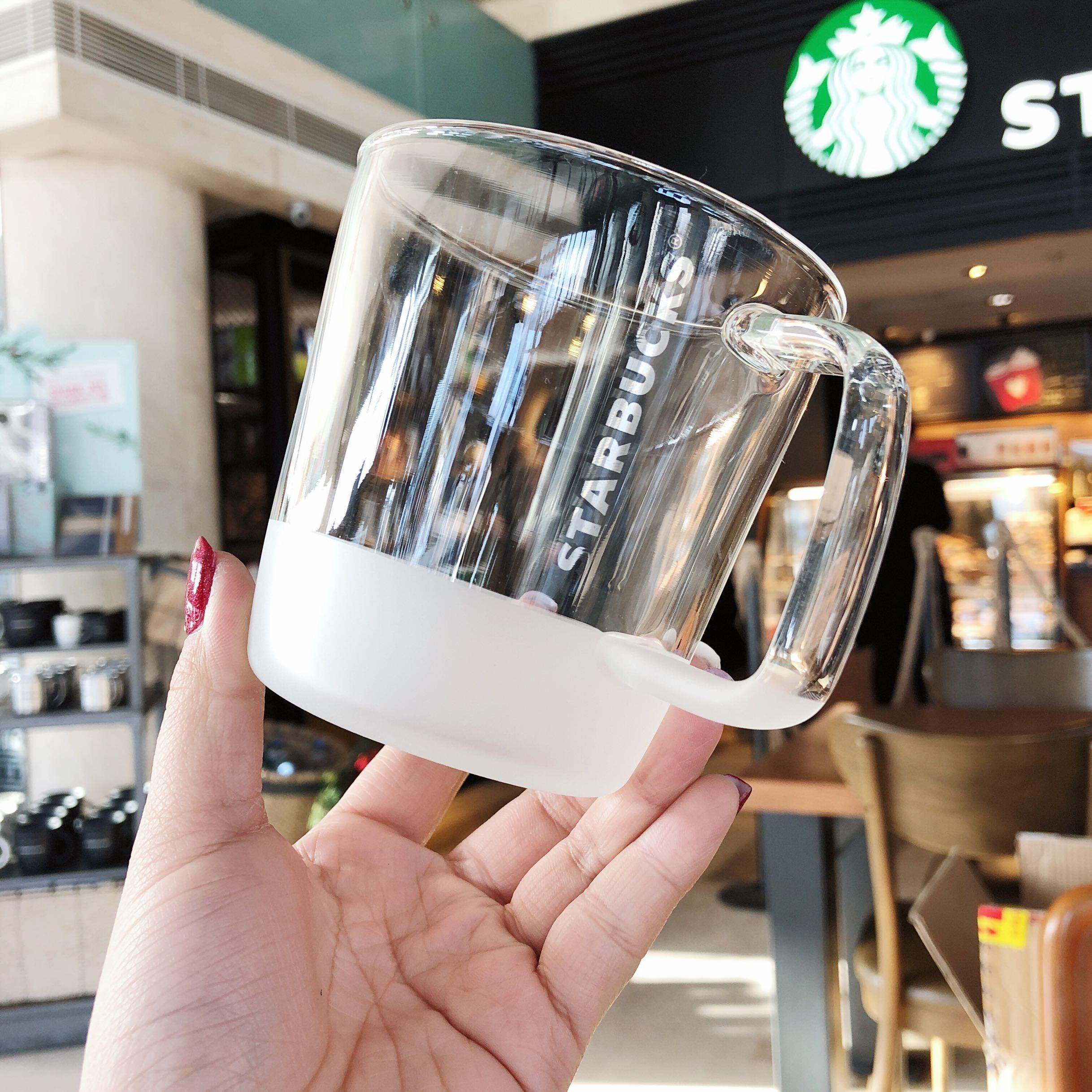 스타벅스 클래식 내열유리 머그컵 355ml, 2개, 투명