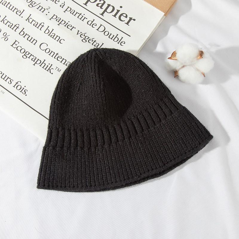 비니 여성 ins가을겨울 일본스타일 블랙 코디하기쉬운 귀보호 발가락까지덮는스타일 보온 겨울 니트모자