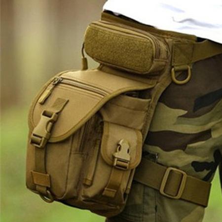 밀리터리 허벅지가방 레그백 루어 낚시보조가방 군인 다리가방, 베이지, 상세페이지 참조