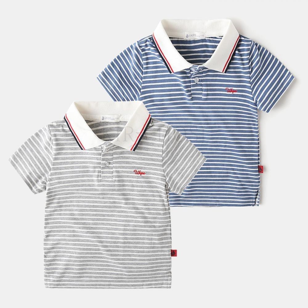 kirahosi 남아 반팔 티셔츠 아동복 여름 반팔 폴로 58호+ 덧신 증정 ANm1z28n