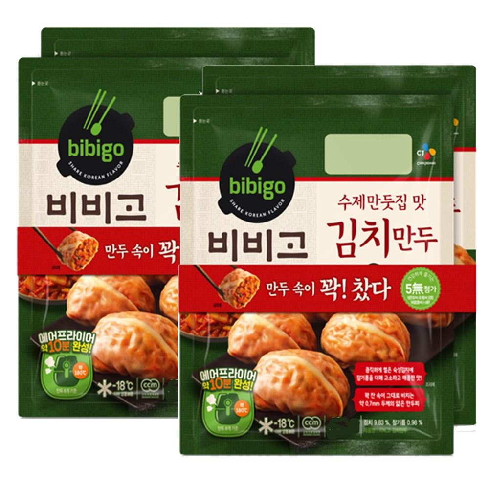 (냉동)비비고 수제김치만두300gx4개, 1세트