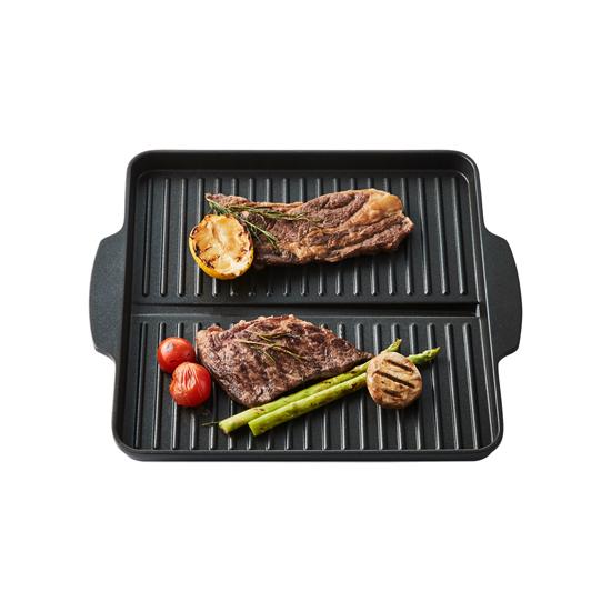 락앤락 넌스틱 사각그릴팬 30cm - 가정용고기불판(삼겹살구이.스테이크.닭갈비) 연기안나는.기름안튀는팬추천